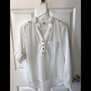 Tops - White button down blouse